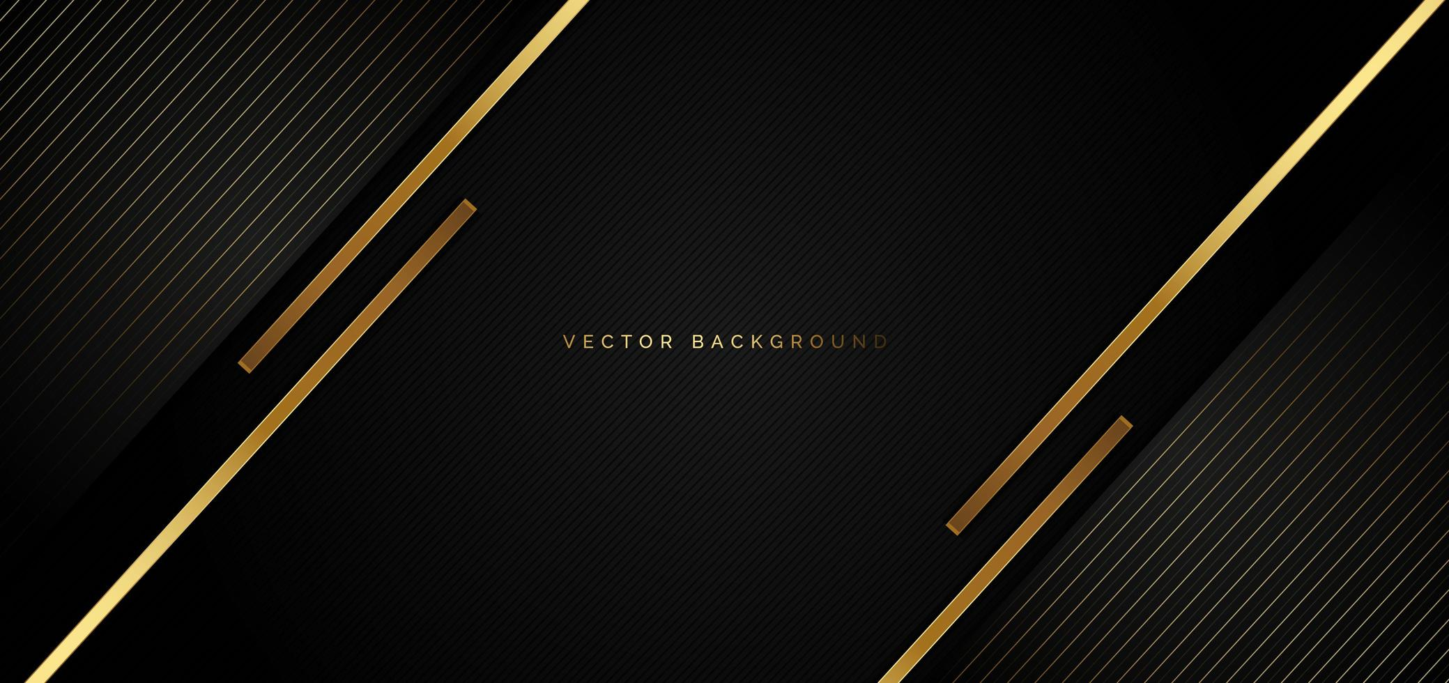 fundo preto com listras douradas em um estilo luxuoso vetor