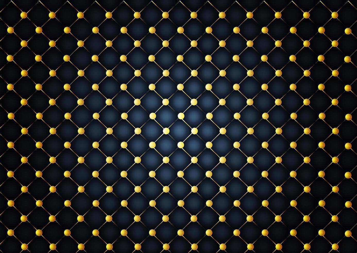 patrón de bolas de oro sobre fondo oscuro vector