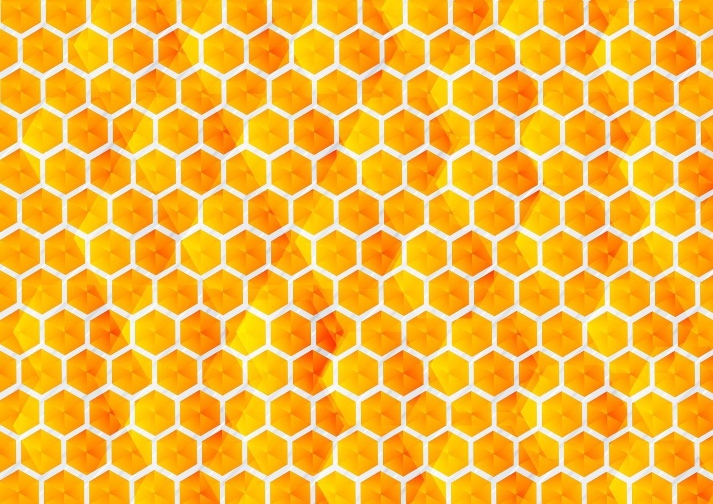degradado abstracto amarillo y naranja, fondo hexagonal vector