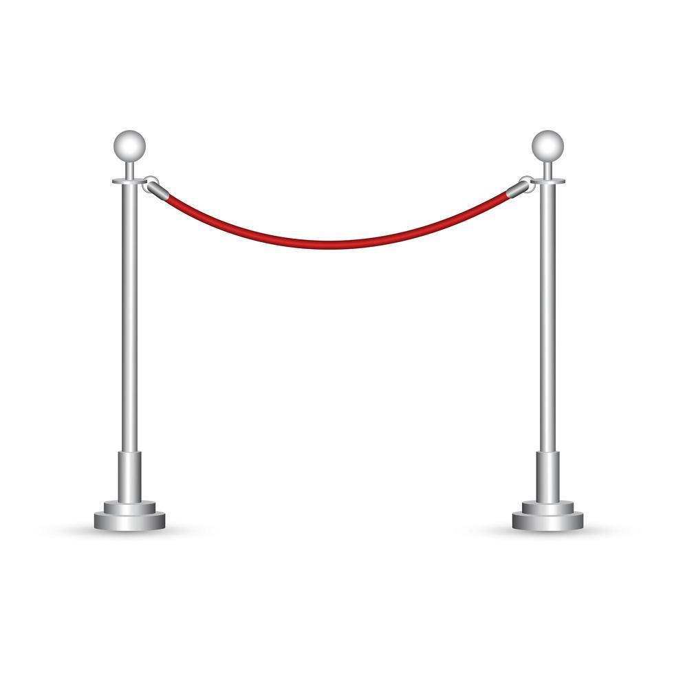corda de barreira isolada vetor