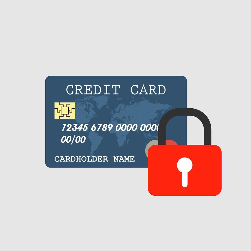 segurança do cartão de crédito vetor