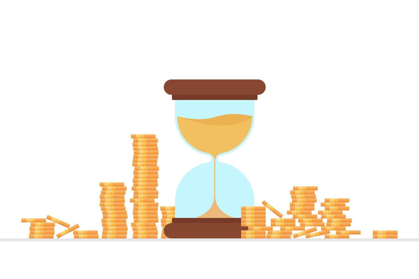 el tiempo es dinero concepto vector