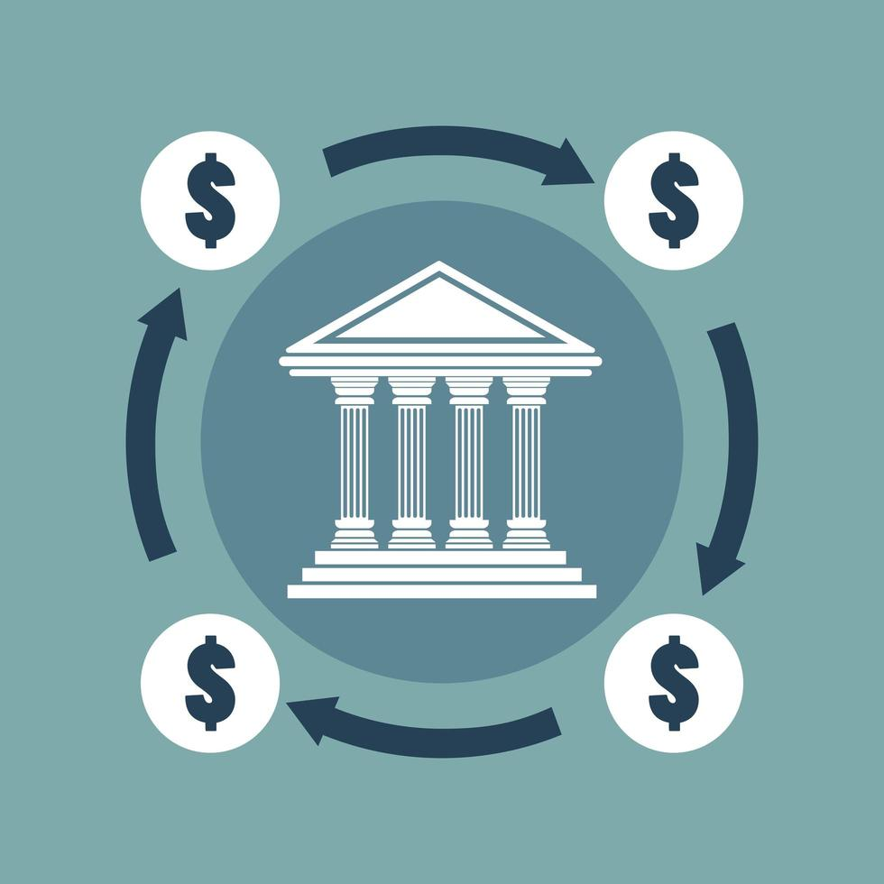 conceito bancário em design plano vetor