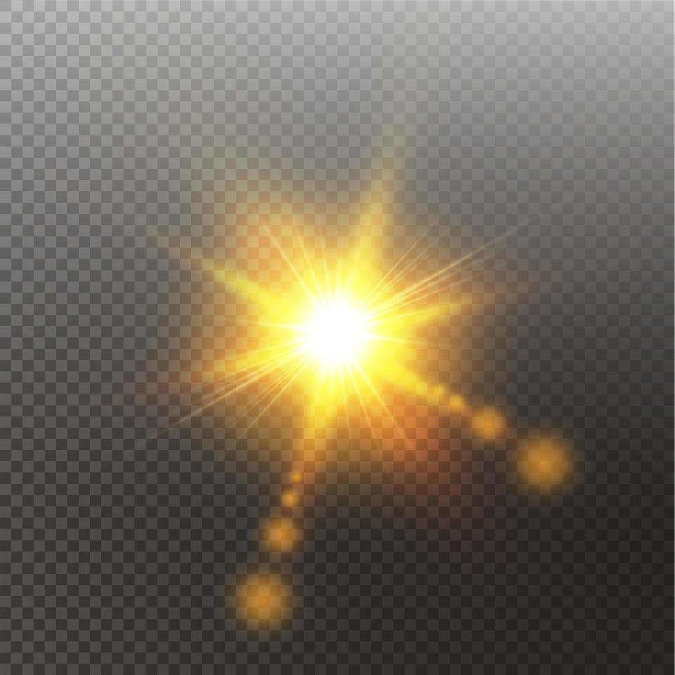 luz solar reflexo de lente especial efeito de luz vetor