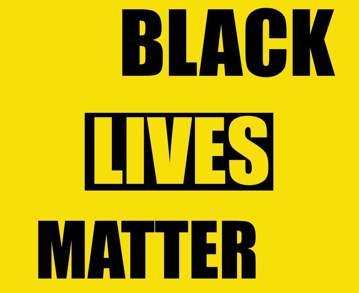 Symbol Black lives matter  vector