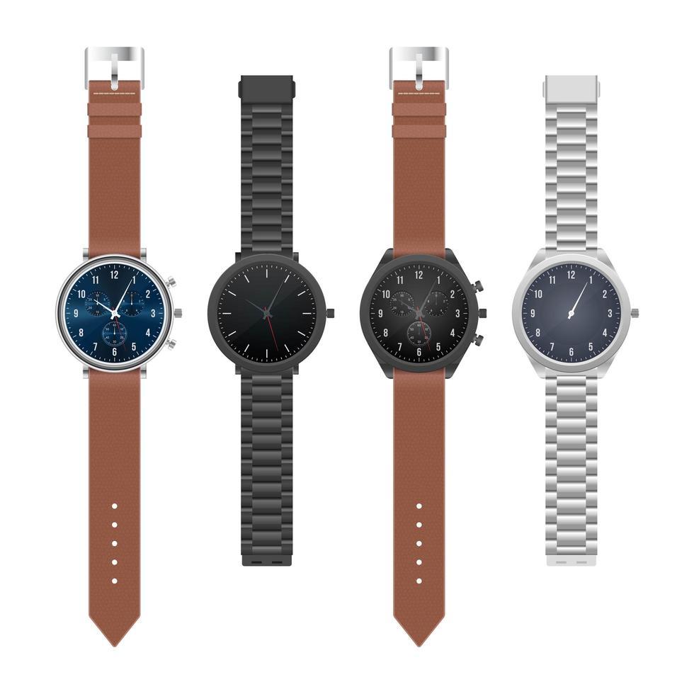 relógio de mão elegante e realista vetor