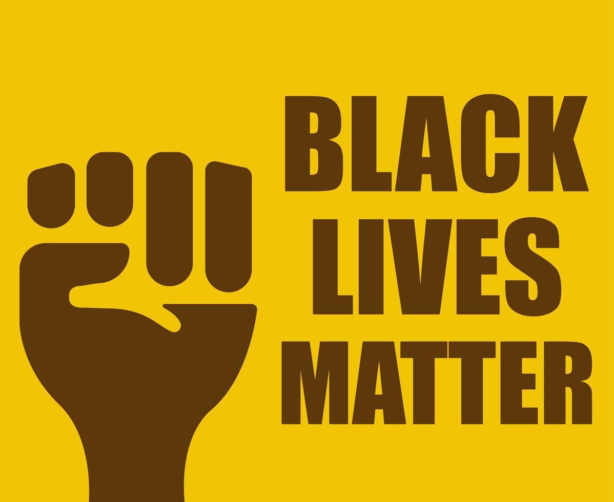 Black lives matter design vector