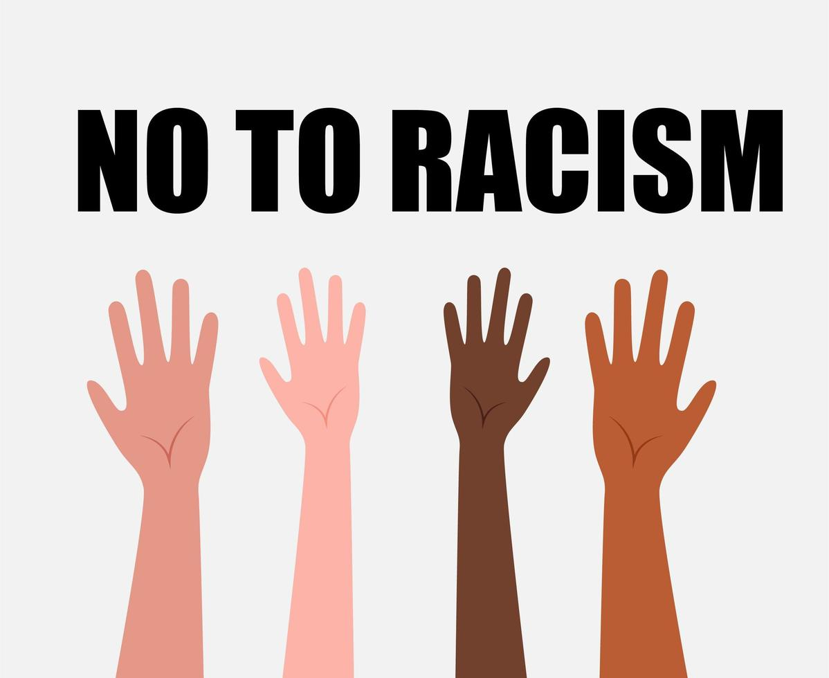 Design No To Racism vector