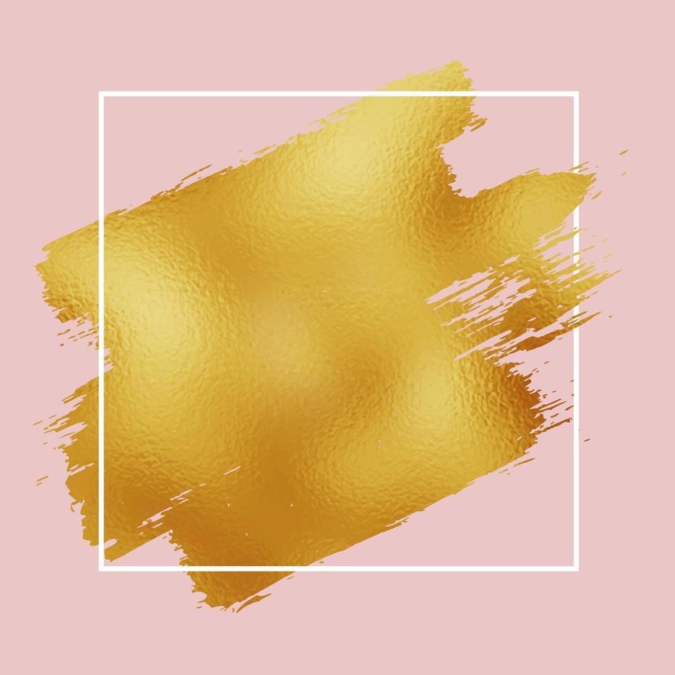 pincelada de folha de ouro vetor