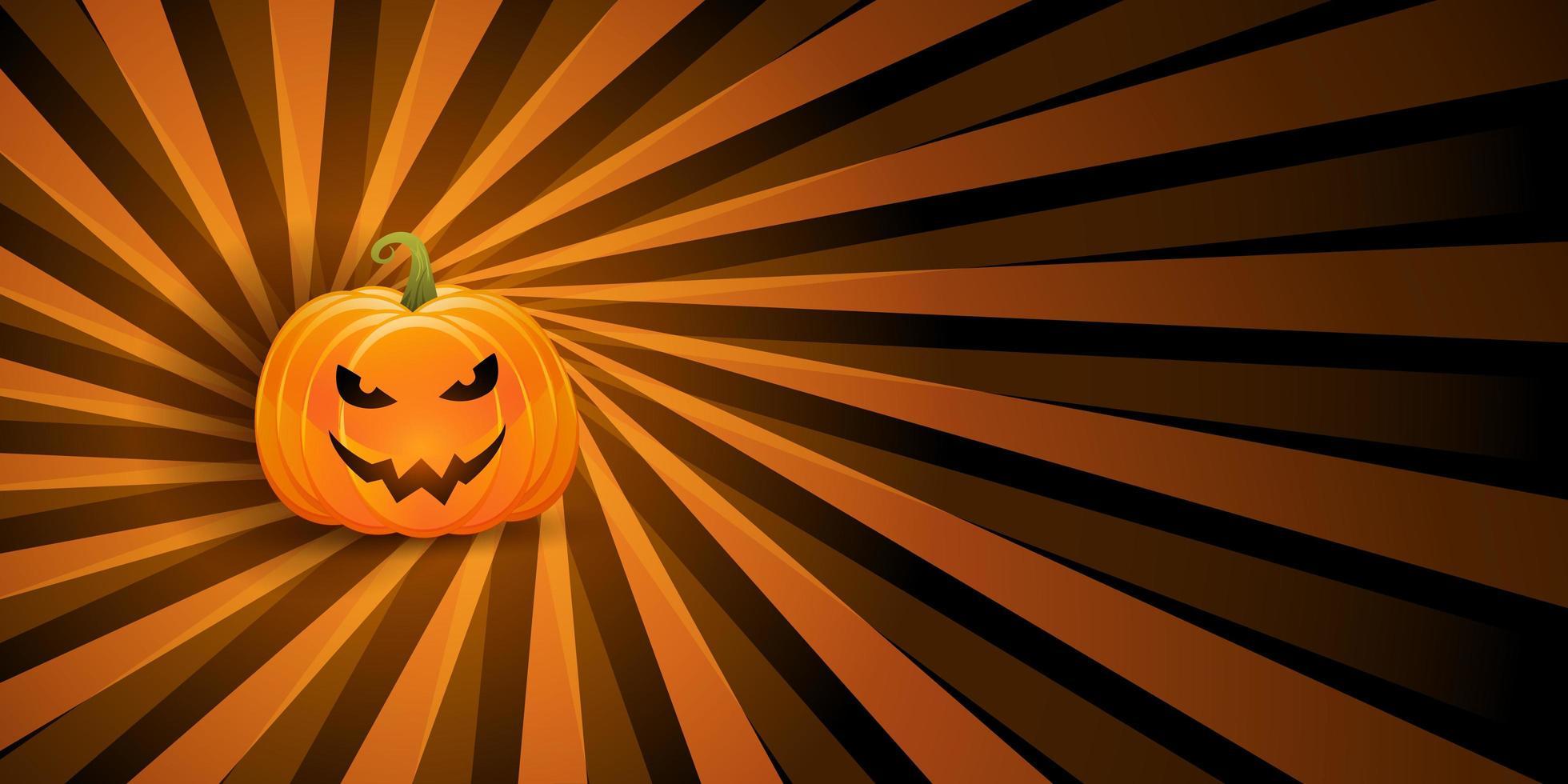 banner de abóbora de halloween vetor