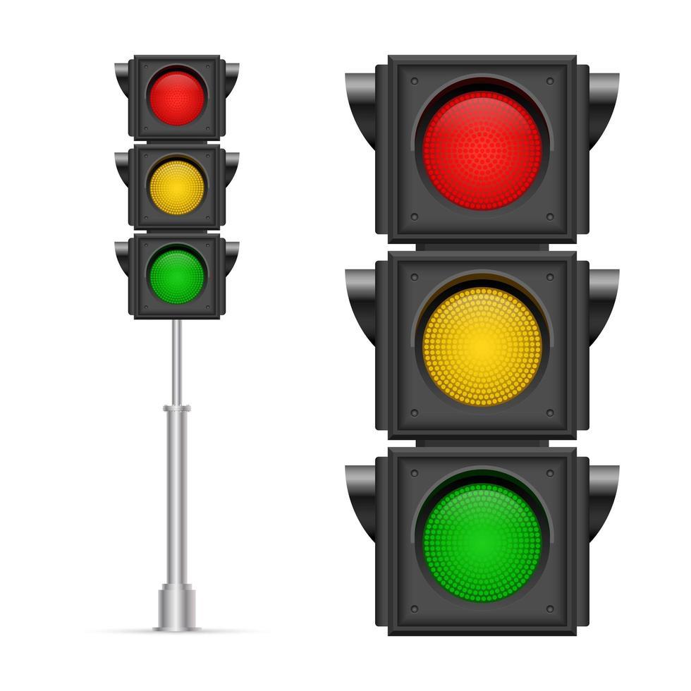 semáforos isolados vetor