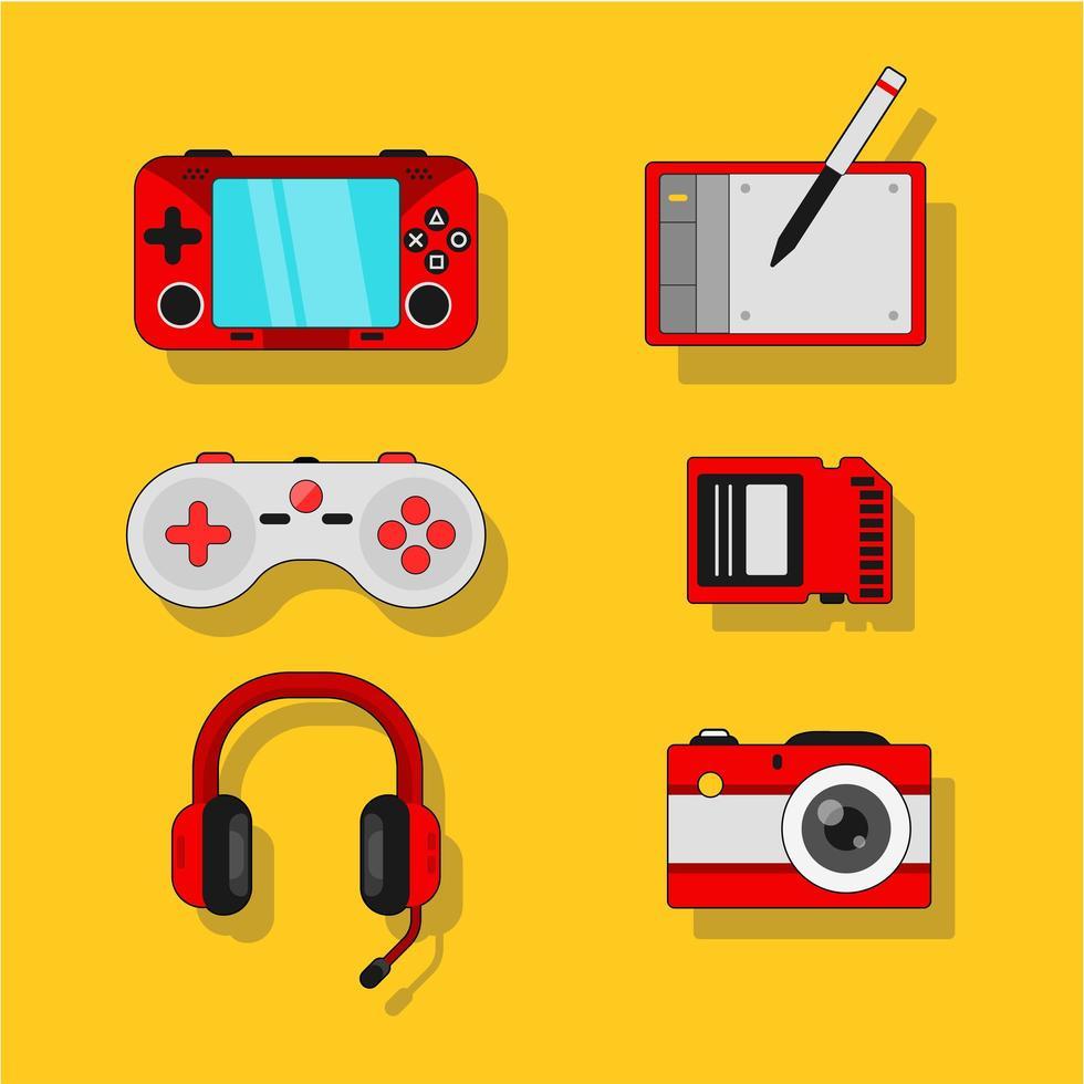 produção e gadget de jogos para celular vetor