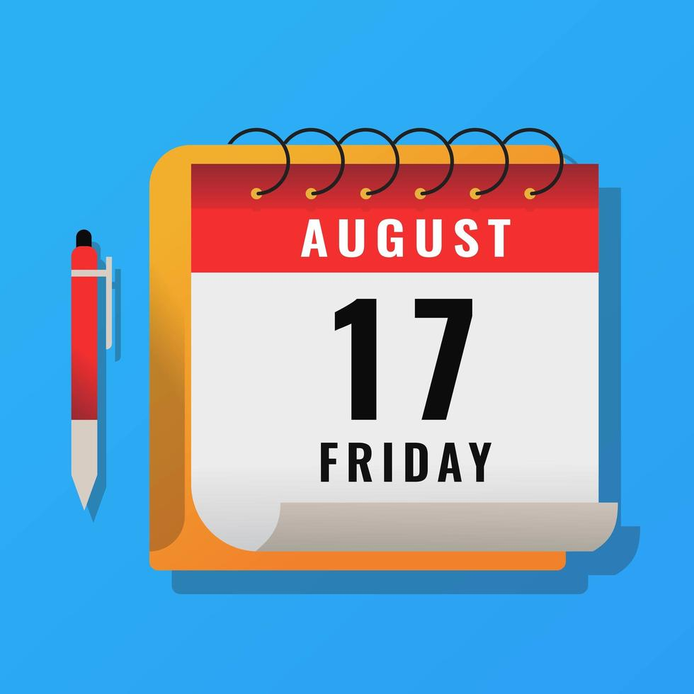Month calendar with marker pen vector