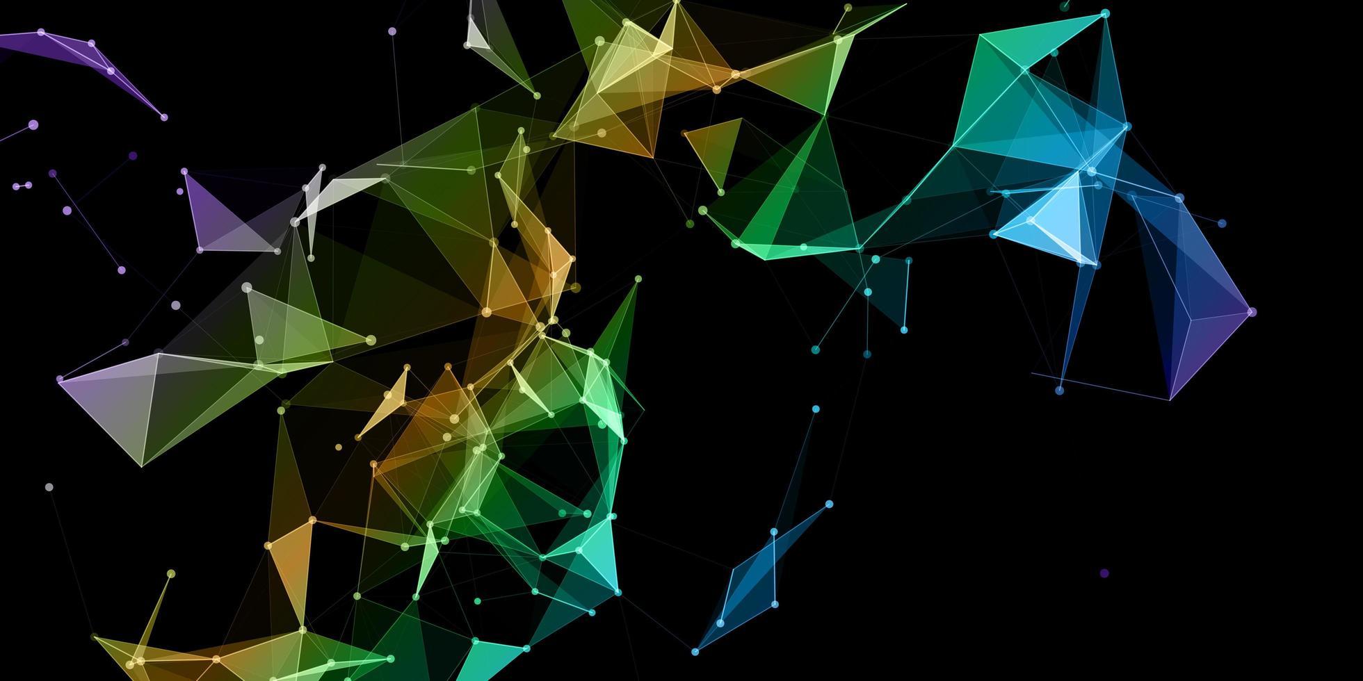 comunicações de rede coloridas vetor