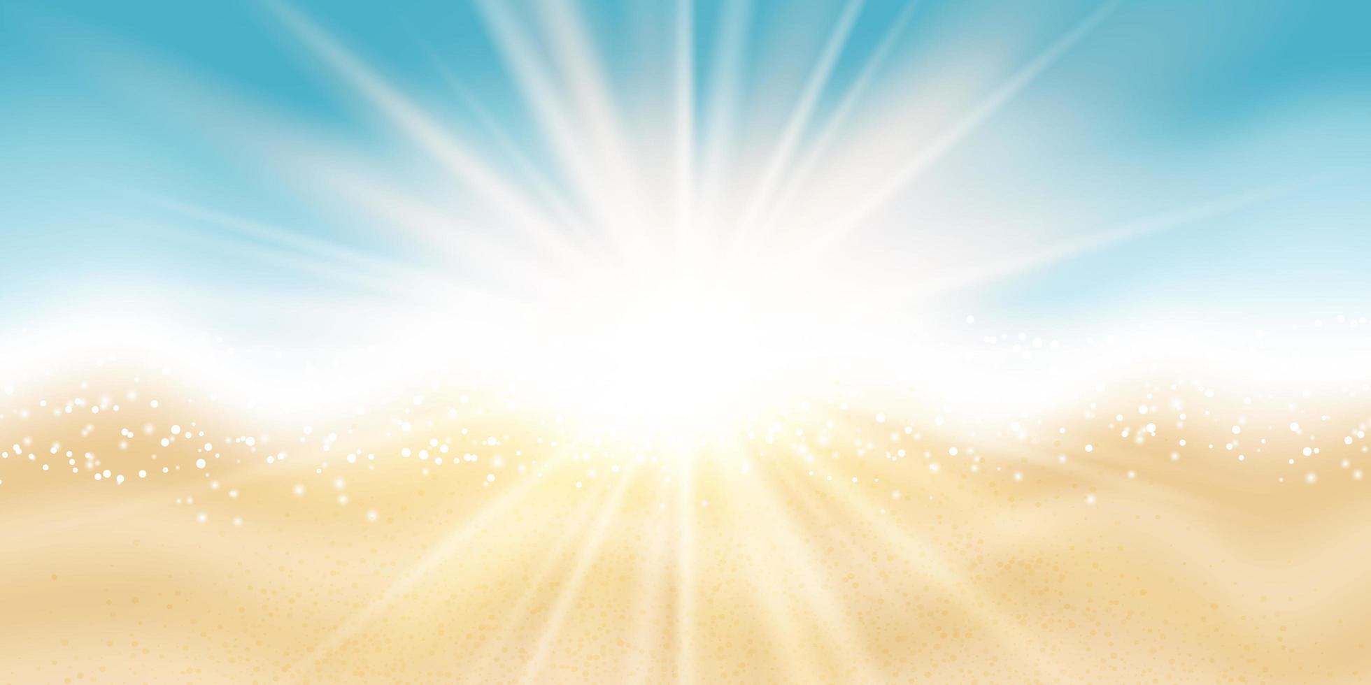 design de banner com tema de verão praia vetor