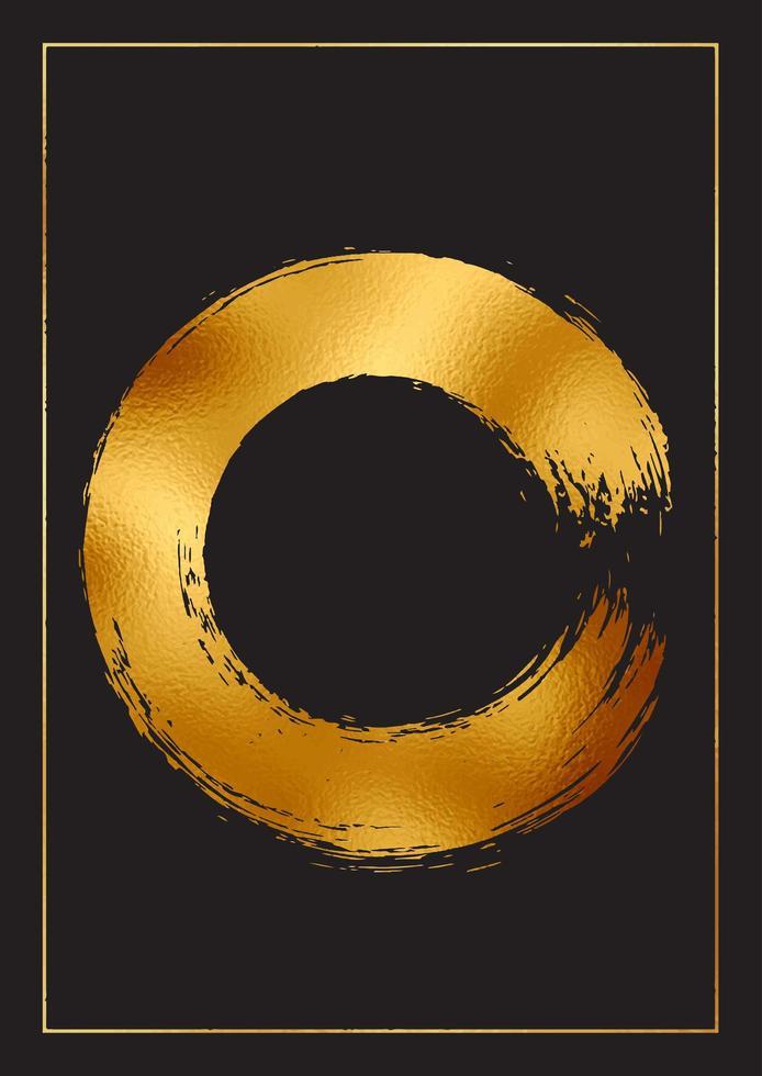 fundo abstrato com folha de ouro vetor