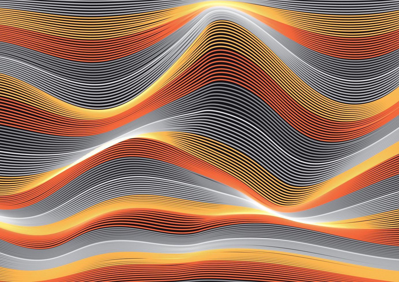 ondas de linhas fluidas vetor