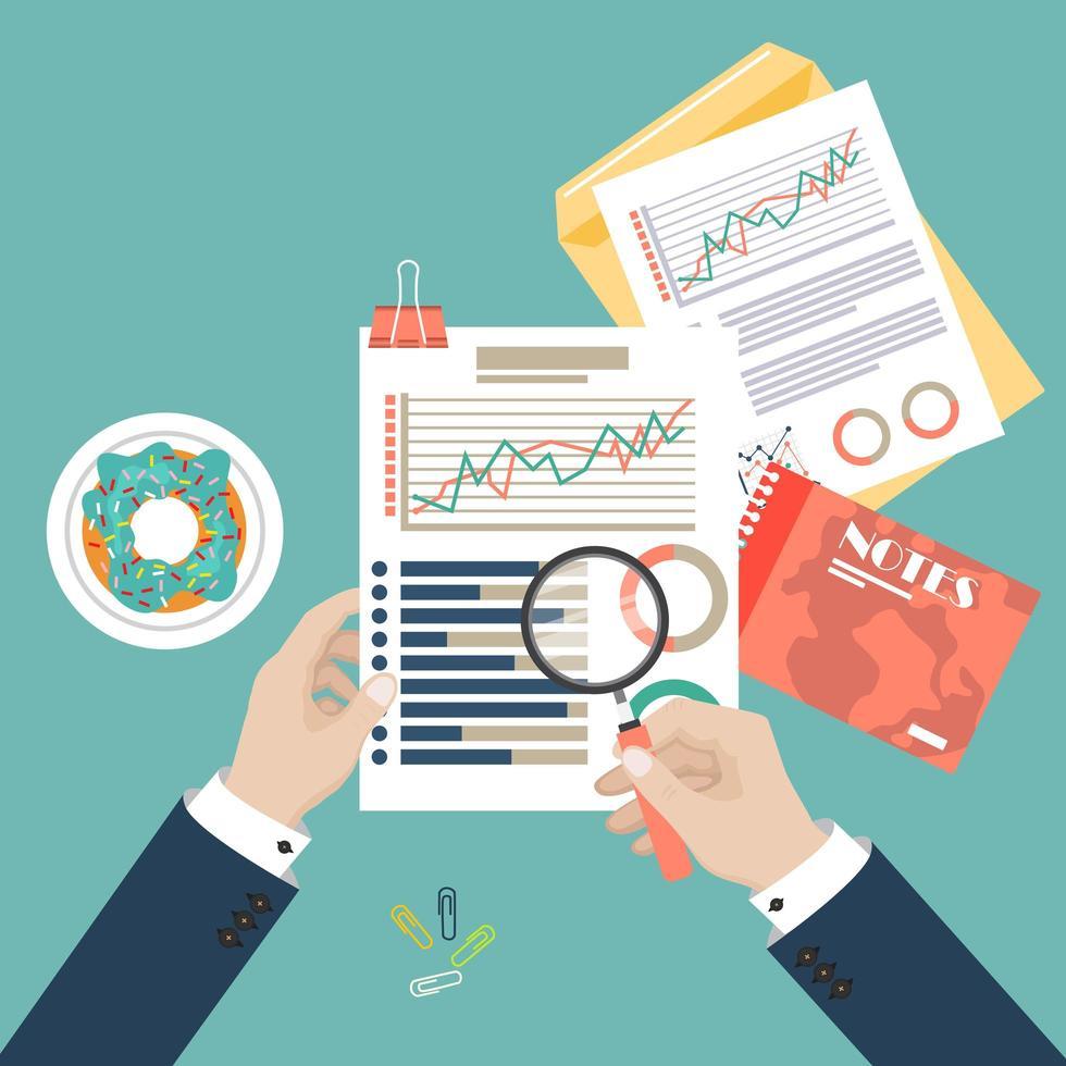 análise de dados de auditoria vetor