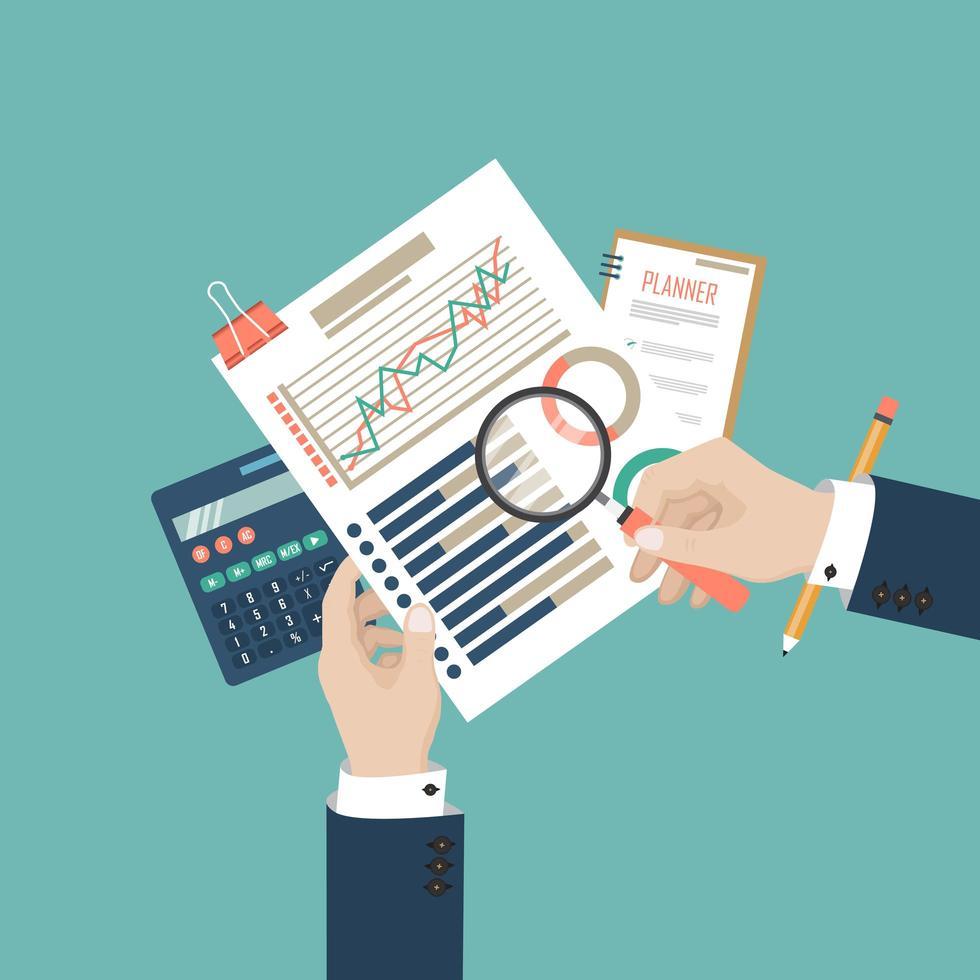 análise de dados de auditoria fiscal vetor