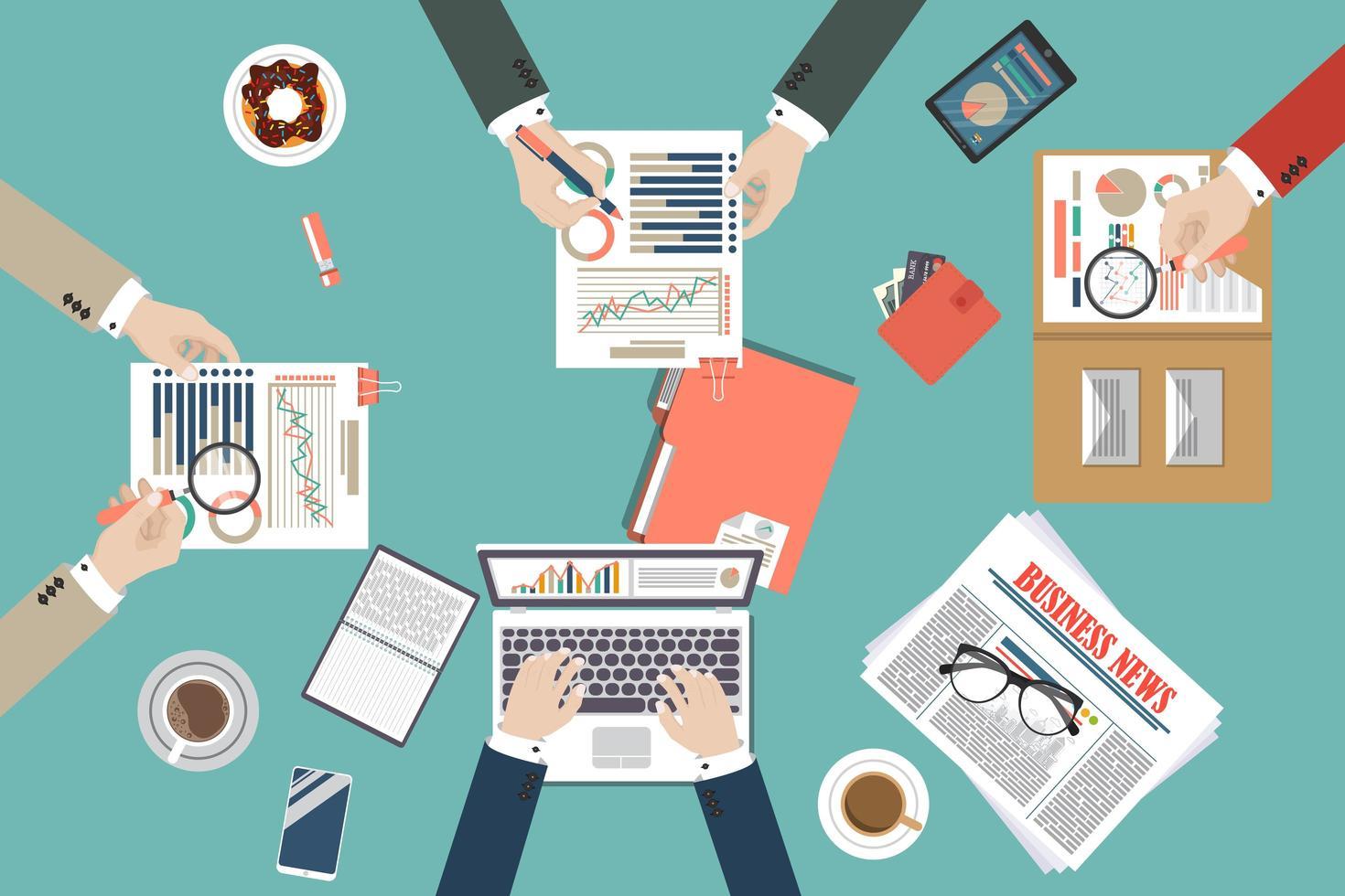 auditoría del proceso de datos fiscales vector