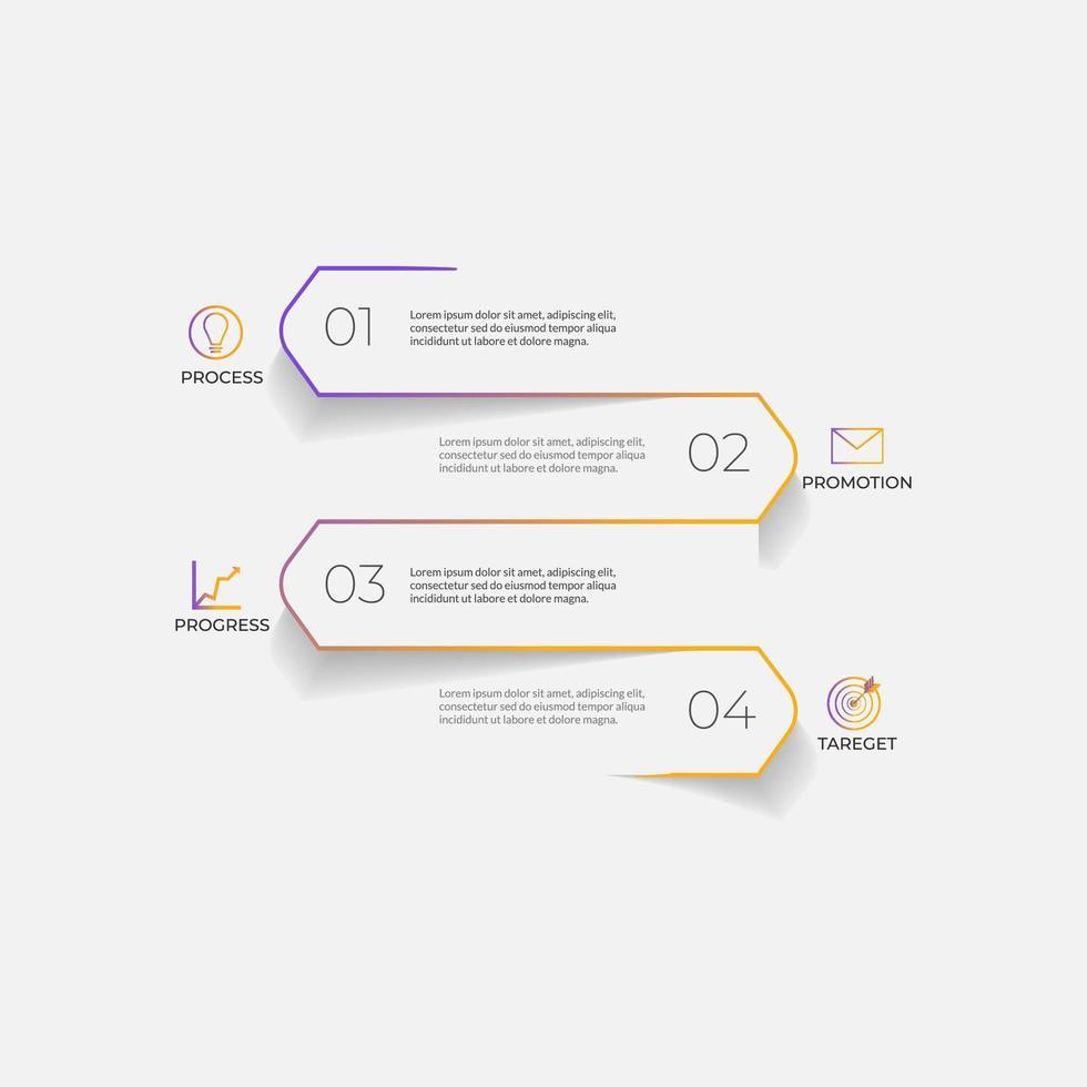 modelo de negócios de infográficos modernos e minimalistas vetor