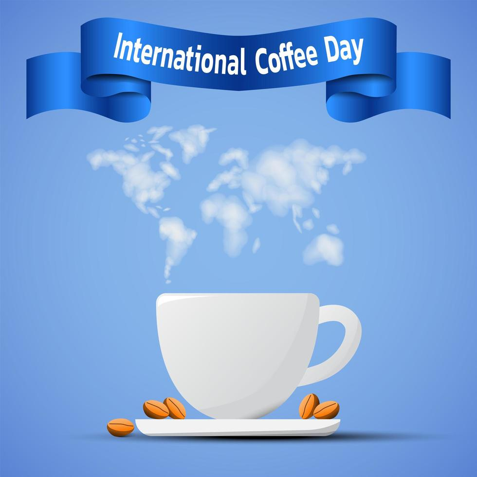 banner do dia internacional do café vetor