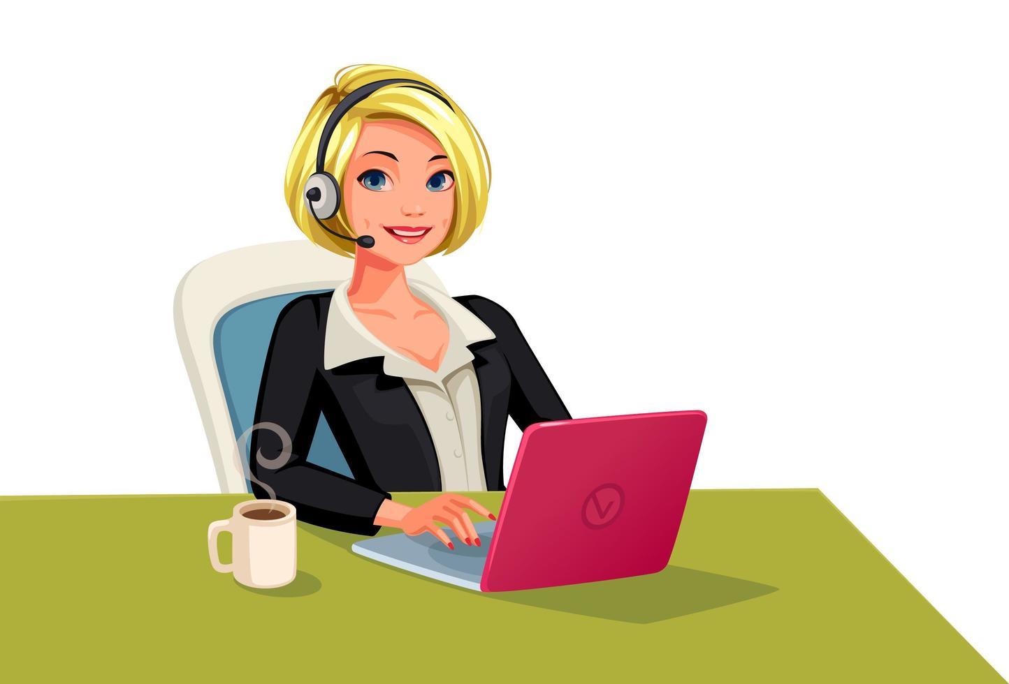 Businesswomen on a call vector