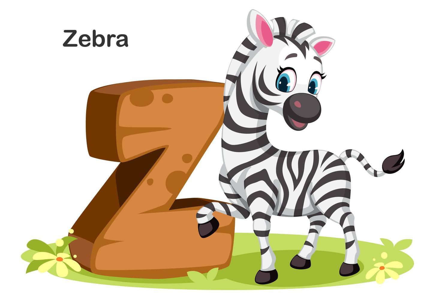 z para zebra vetor