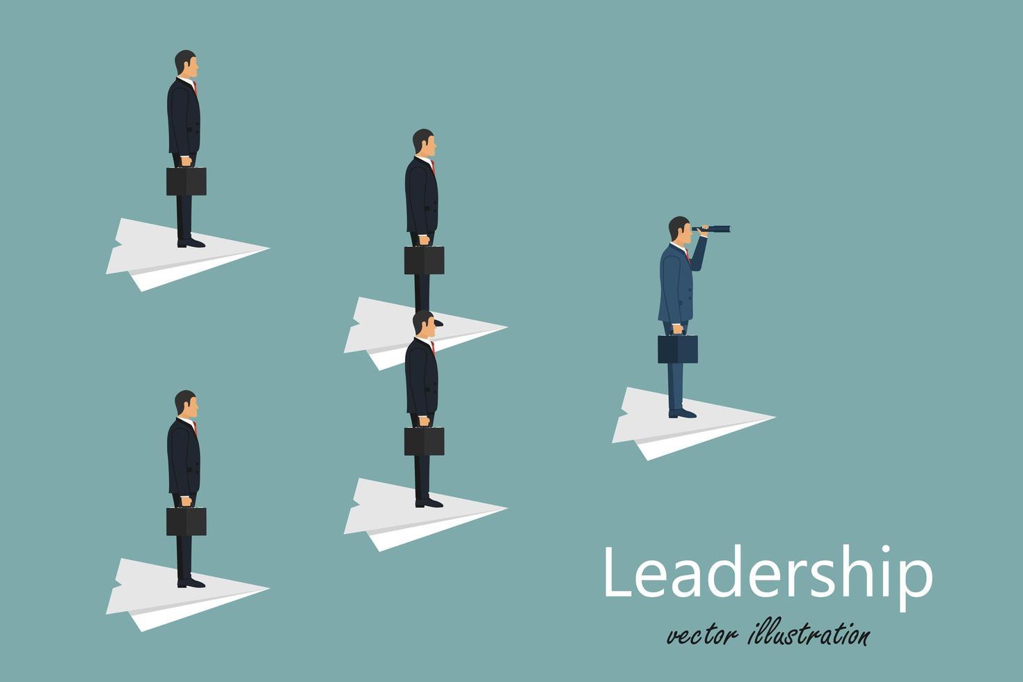 conceito de liderança empresarial vetor