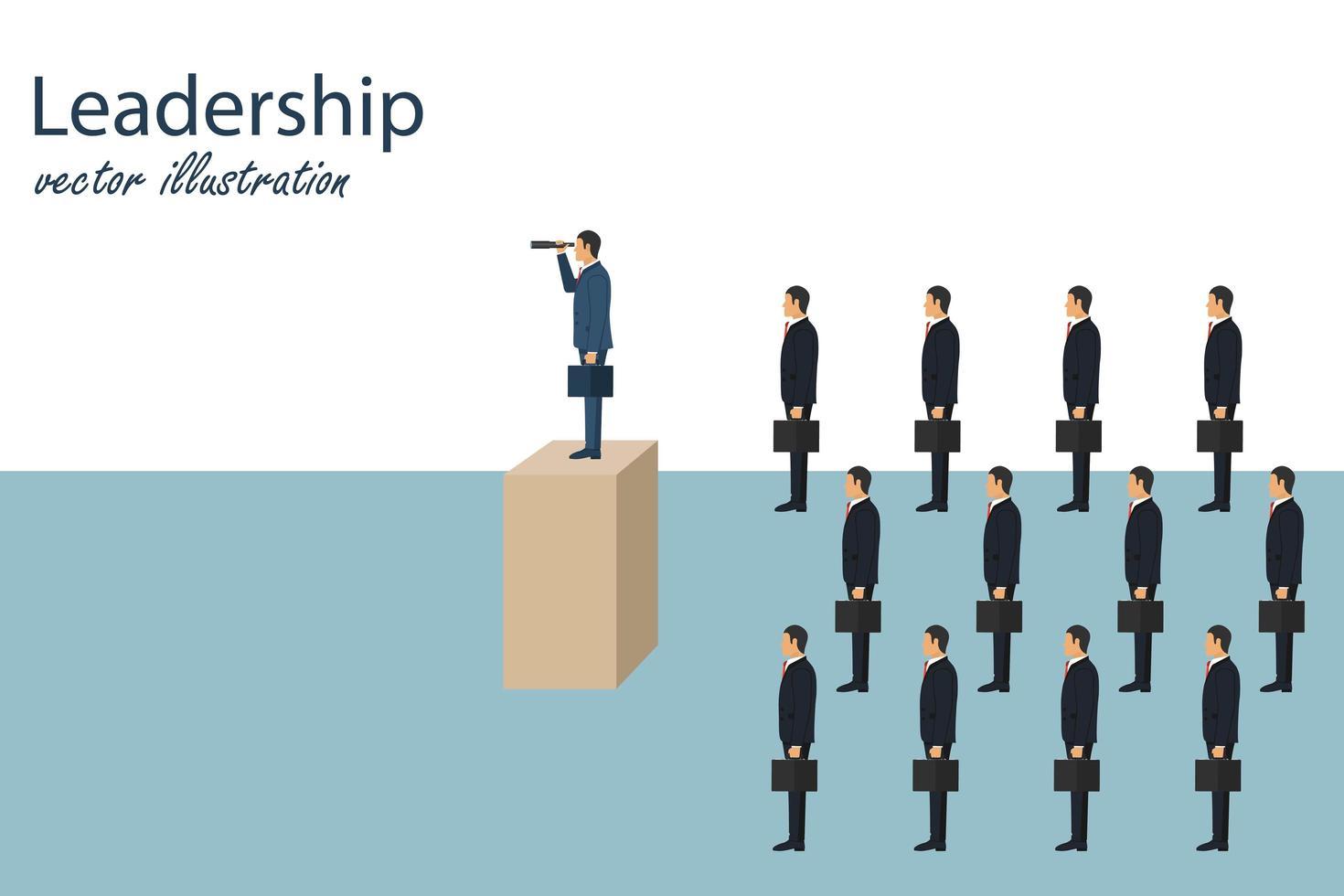 liderança empresarial e conceito visionário vetor