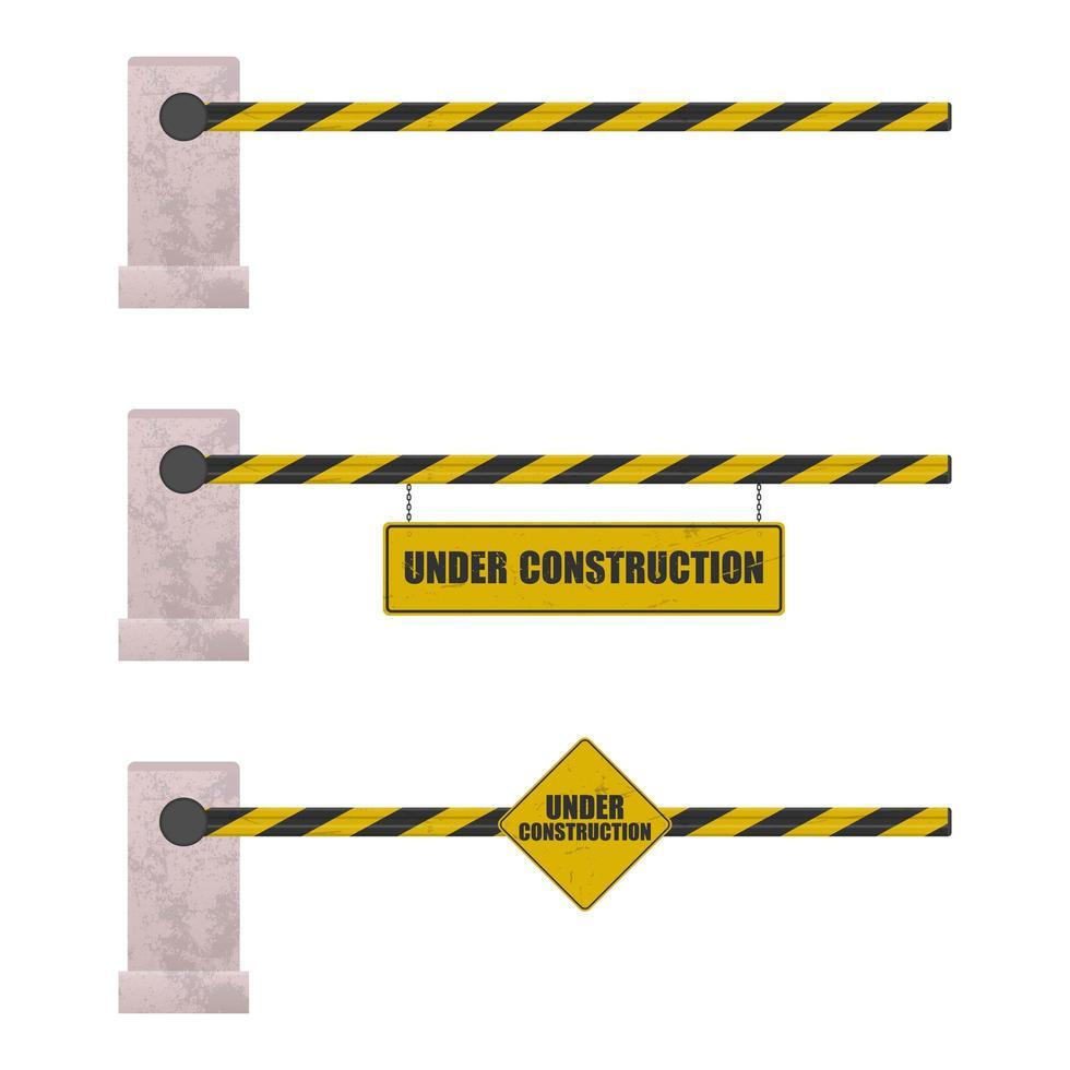 sob a barreira da construção vetor