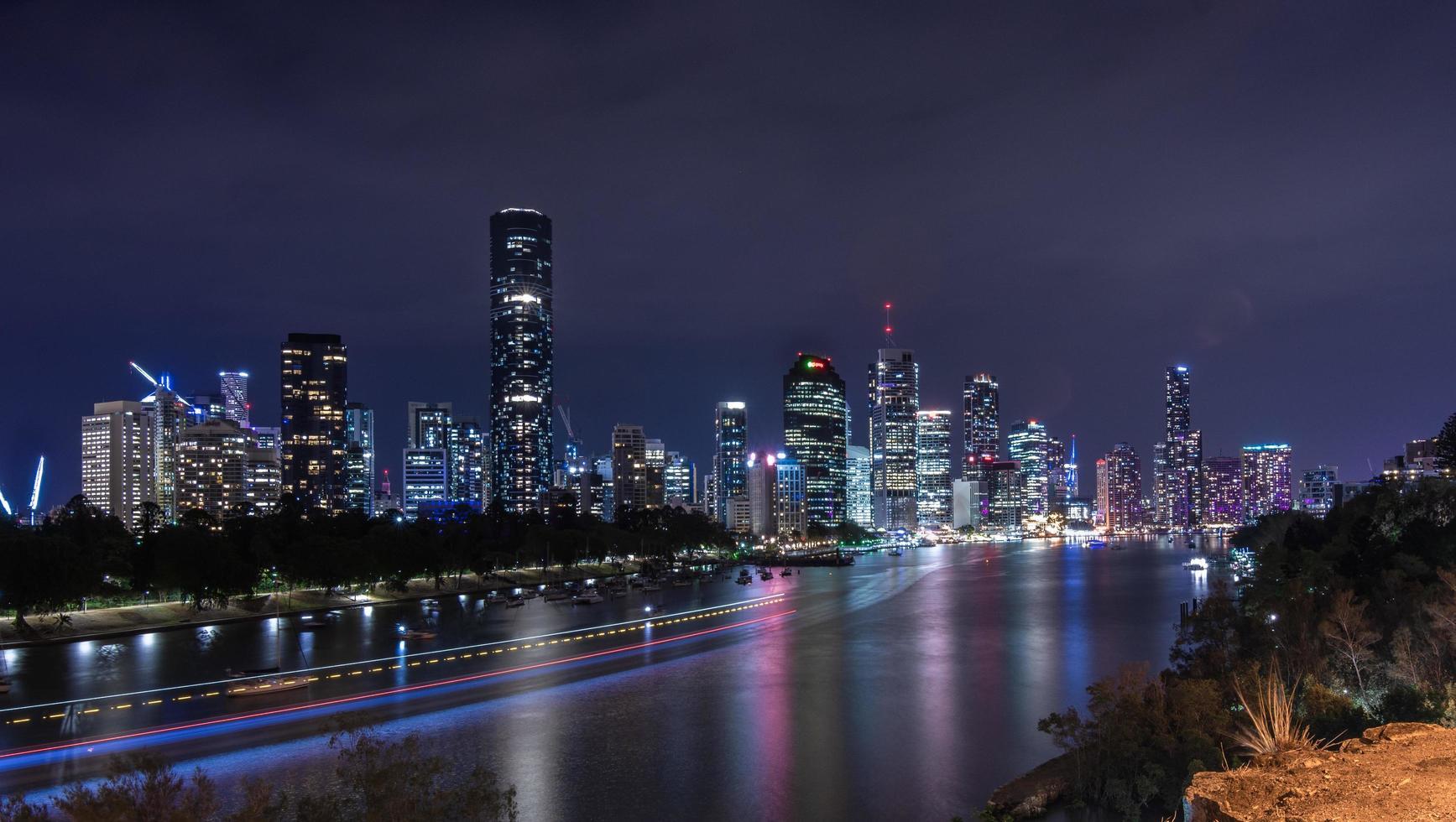 Brisbane skyline at night photo