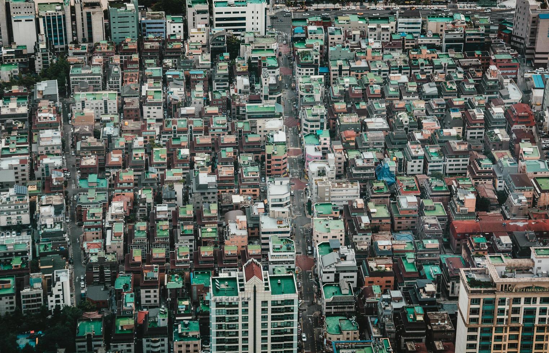 foto de alto ángulo de edificios en seúl