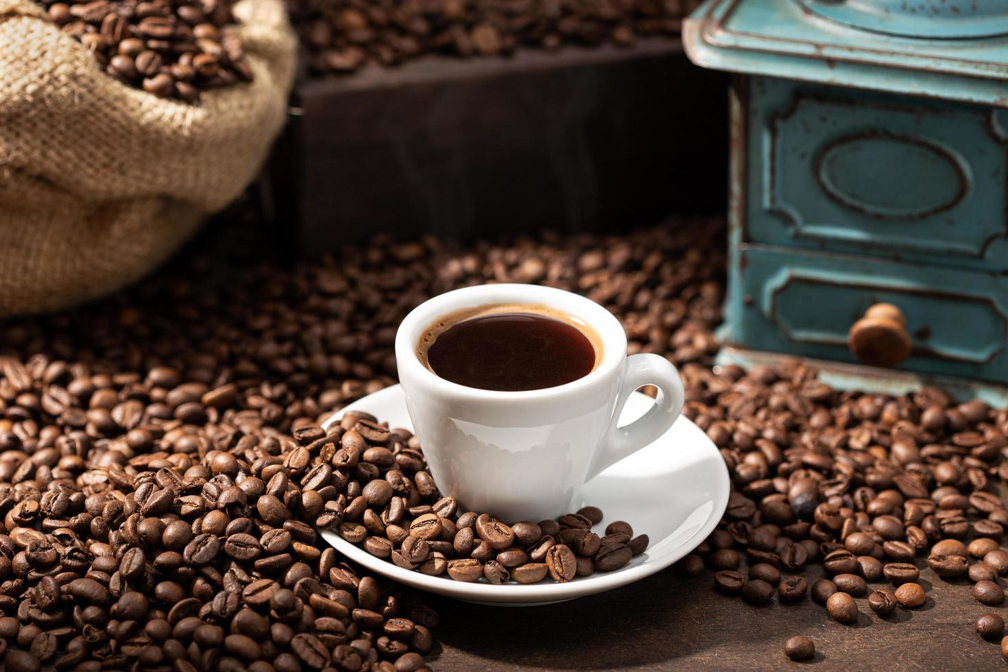 Still life of cup of espresso  photo