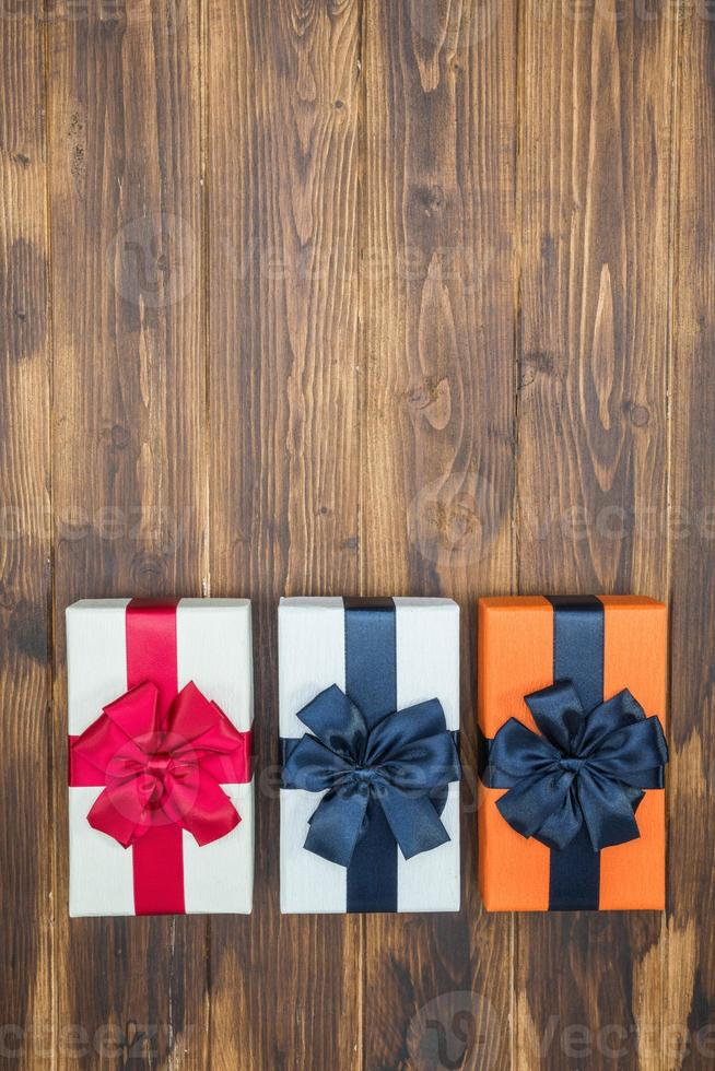 luxury color gift box for holiday event with silk wrap photo