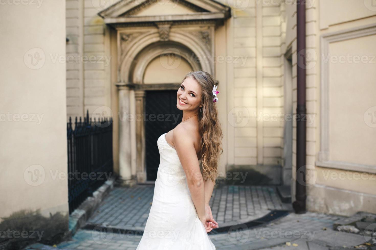 Beautiful bride posing photo