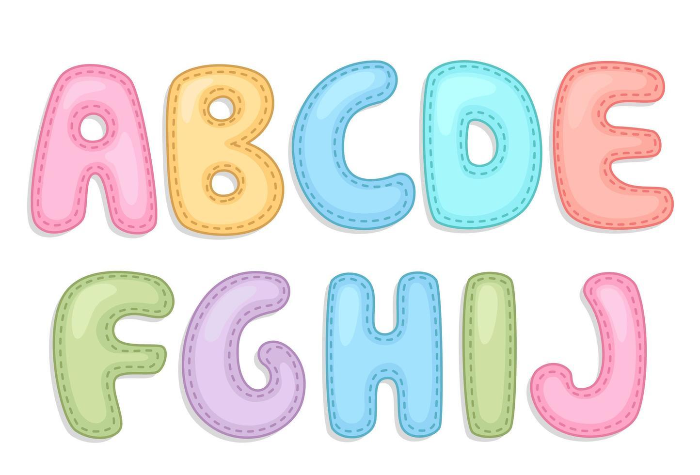alfabeto do bebê parte 1 vetor