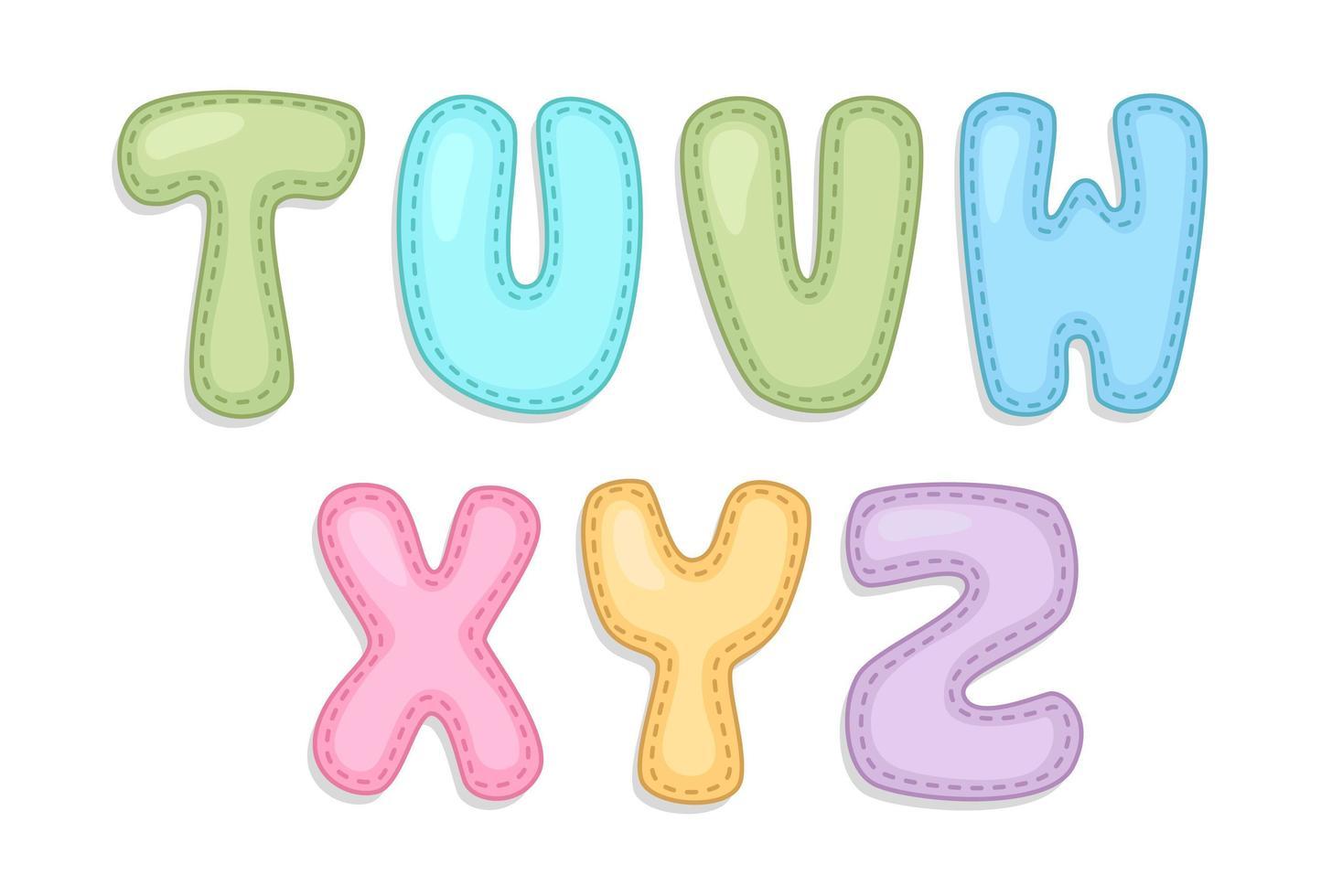Baby alphabet part 3 vector