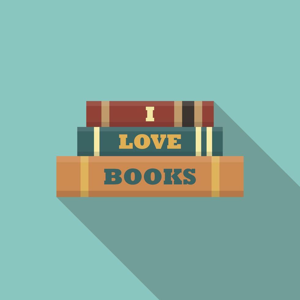 eu amo o conceito de livros vetor