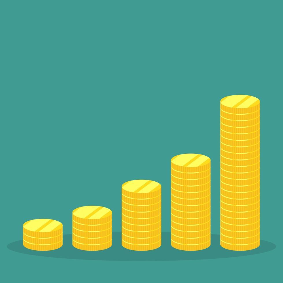 pilha de moedas de ouro vetor