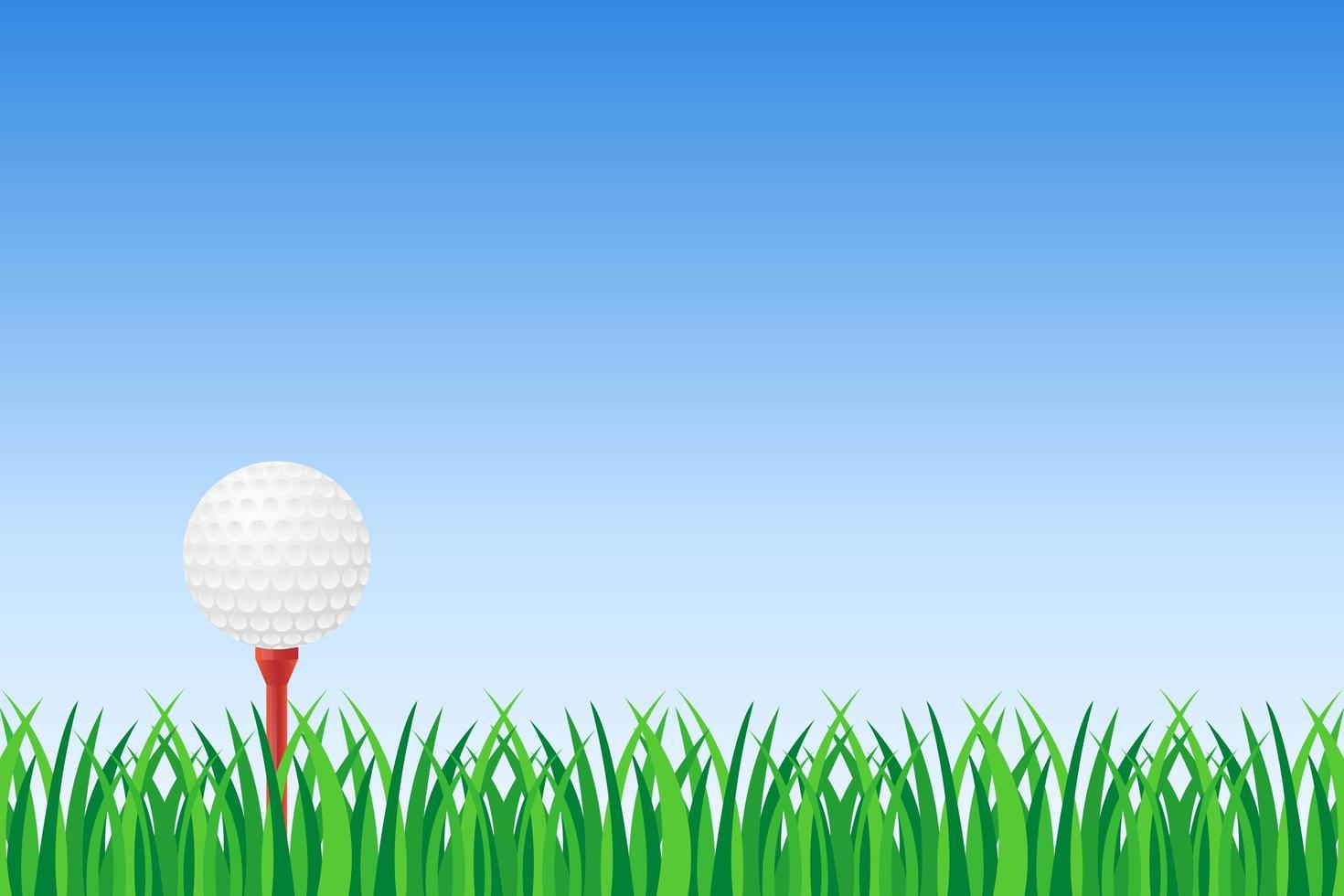 Golf ball on green grass  vector