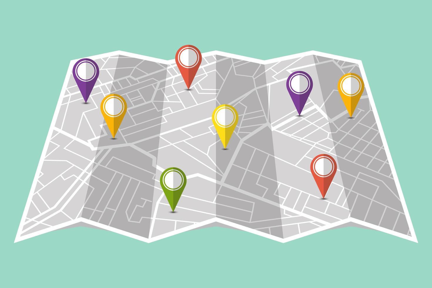 pino em mostrar localização no mapa do navegador vetor