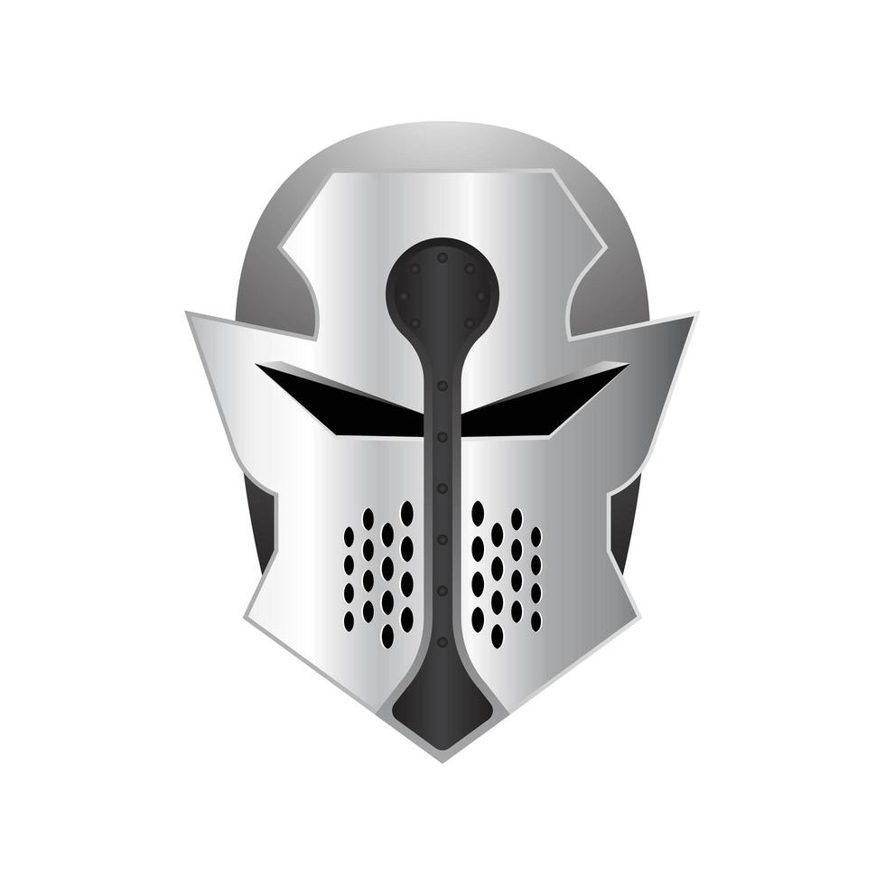 capacete de ferro medieval vetor