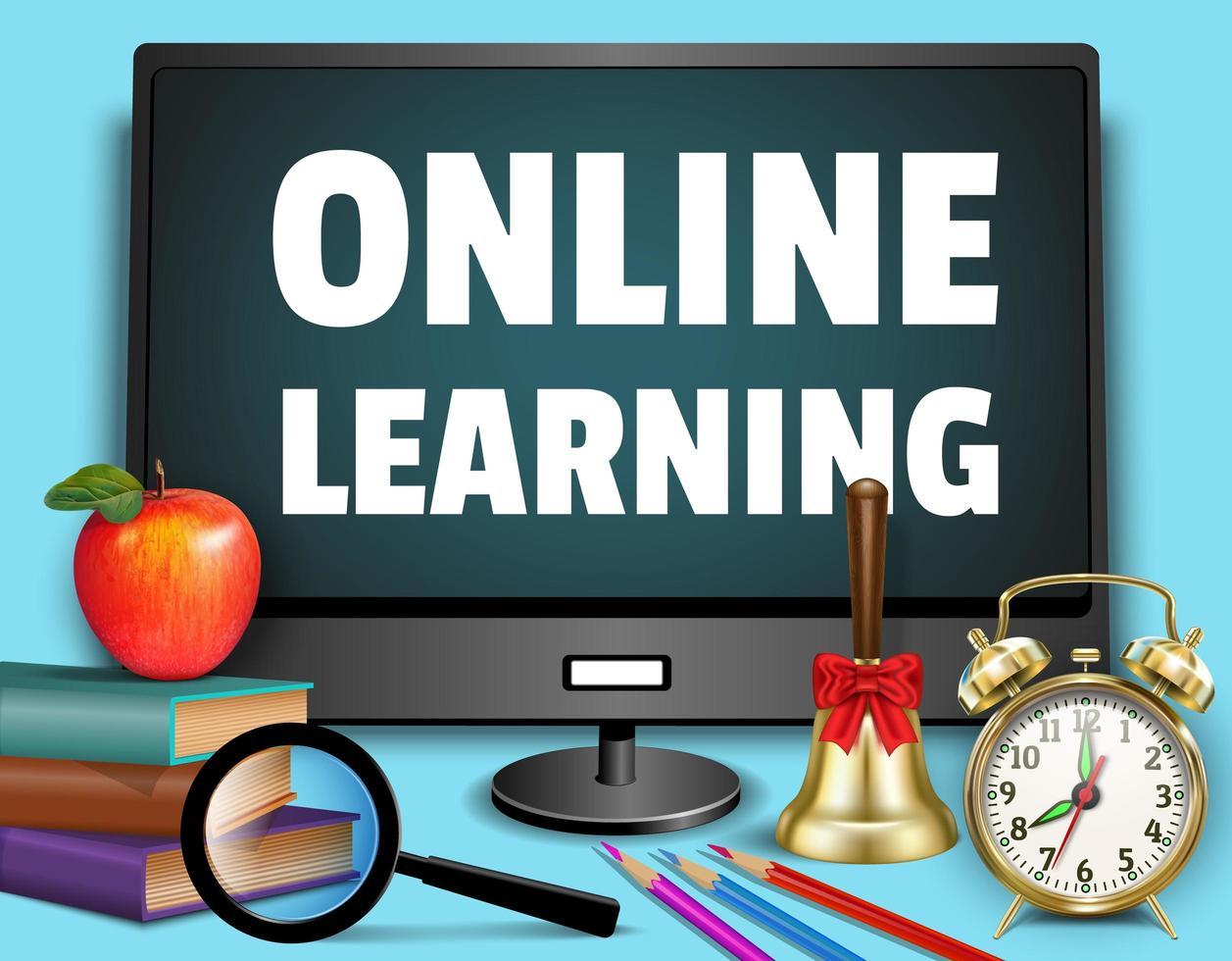 fundo de '' aprendizagem online '' vetor