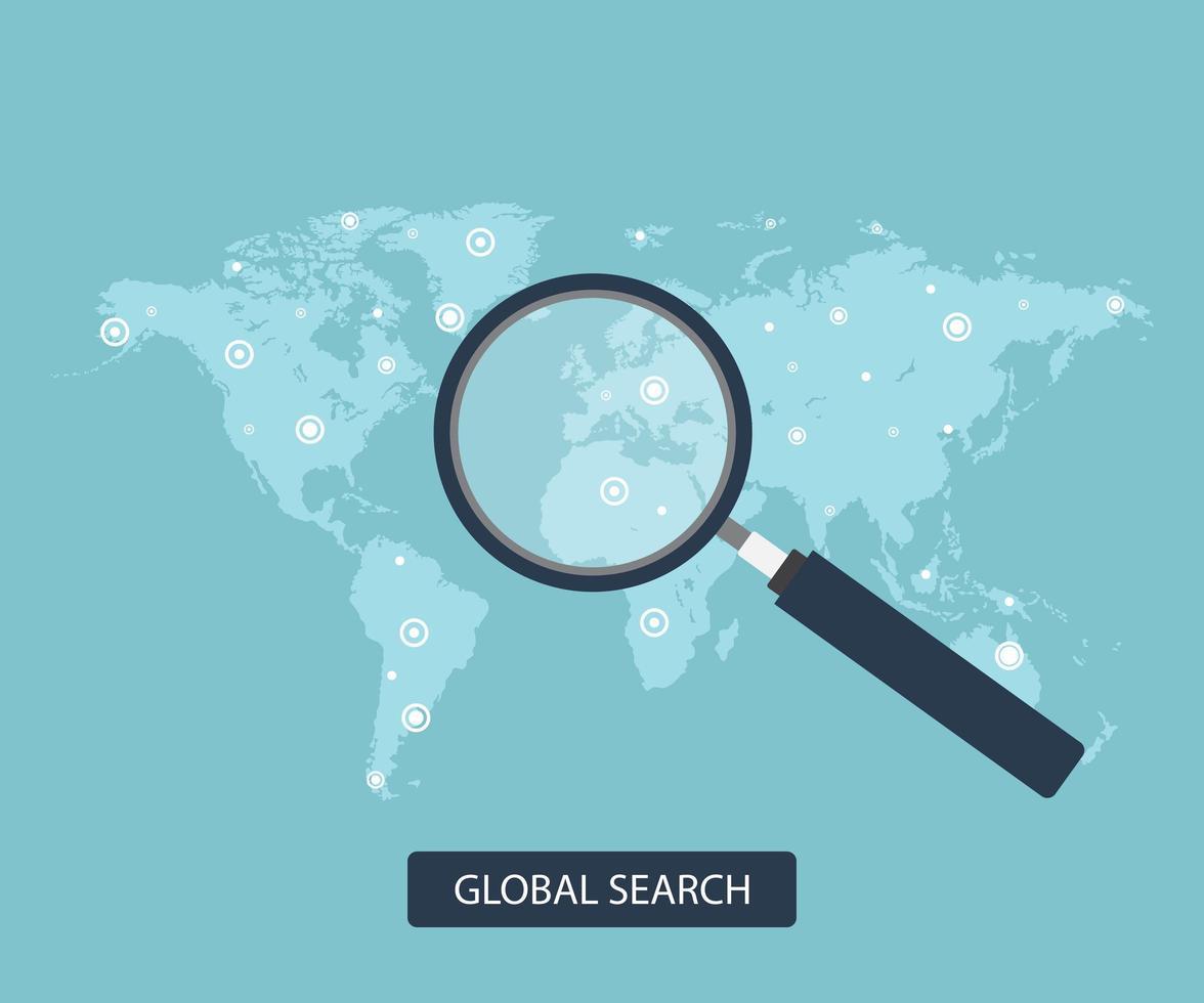 conceito de pesquisa global vetor