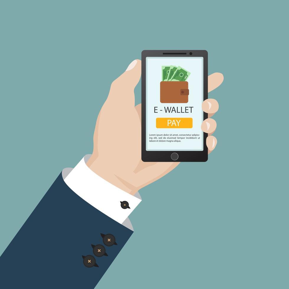 conceito de carteira online vetor