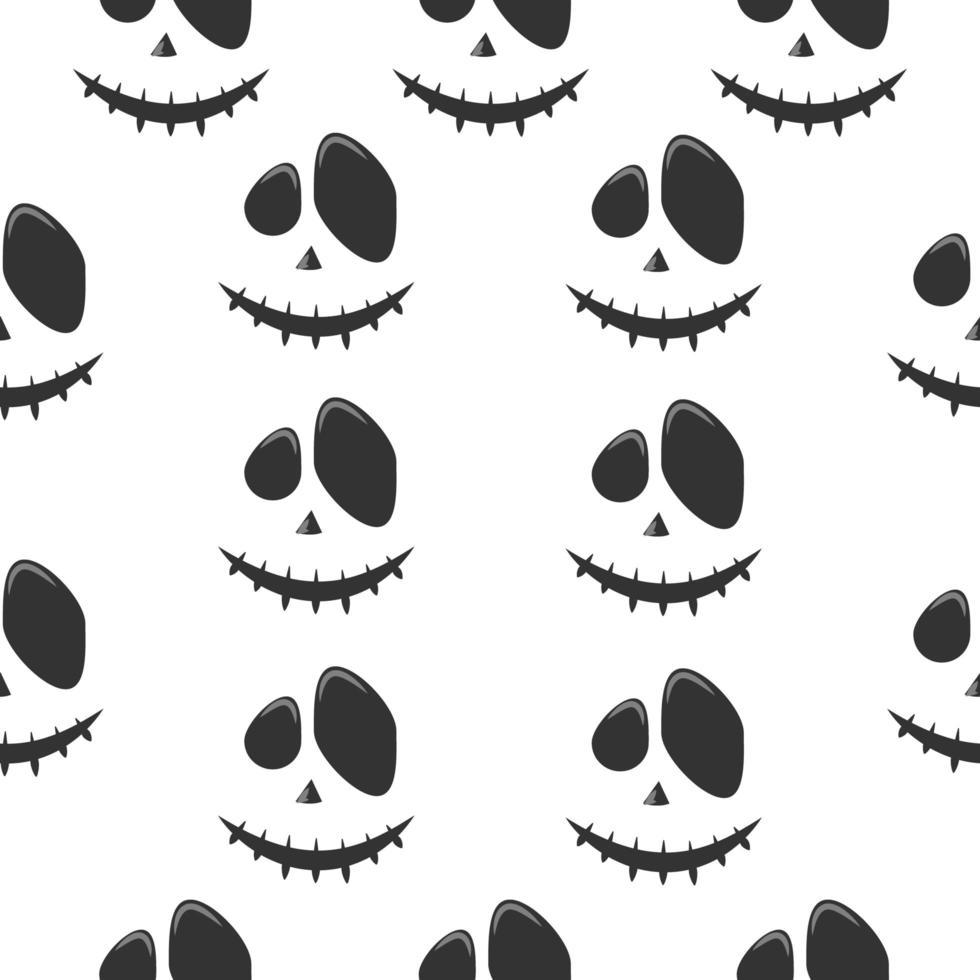 fantasma ou abóbora padrão de rosto de halloween vetor