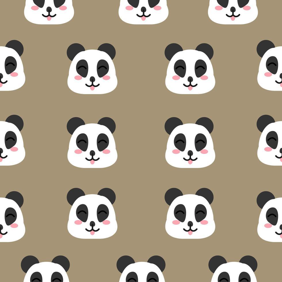 desenho de rosto de panda feliz vetor