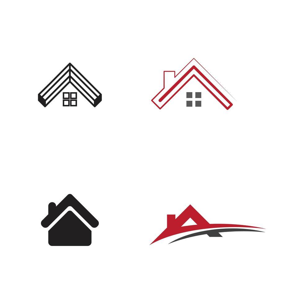 conjunto de design de logotipo de propriedade e construção vetor