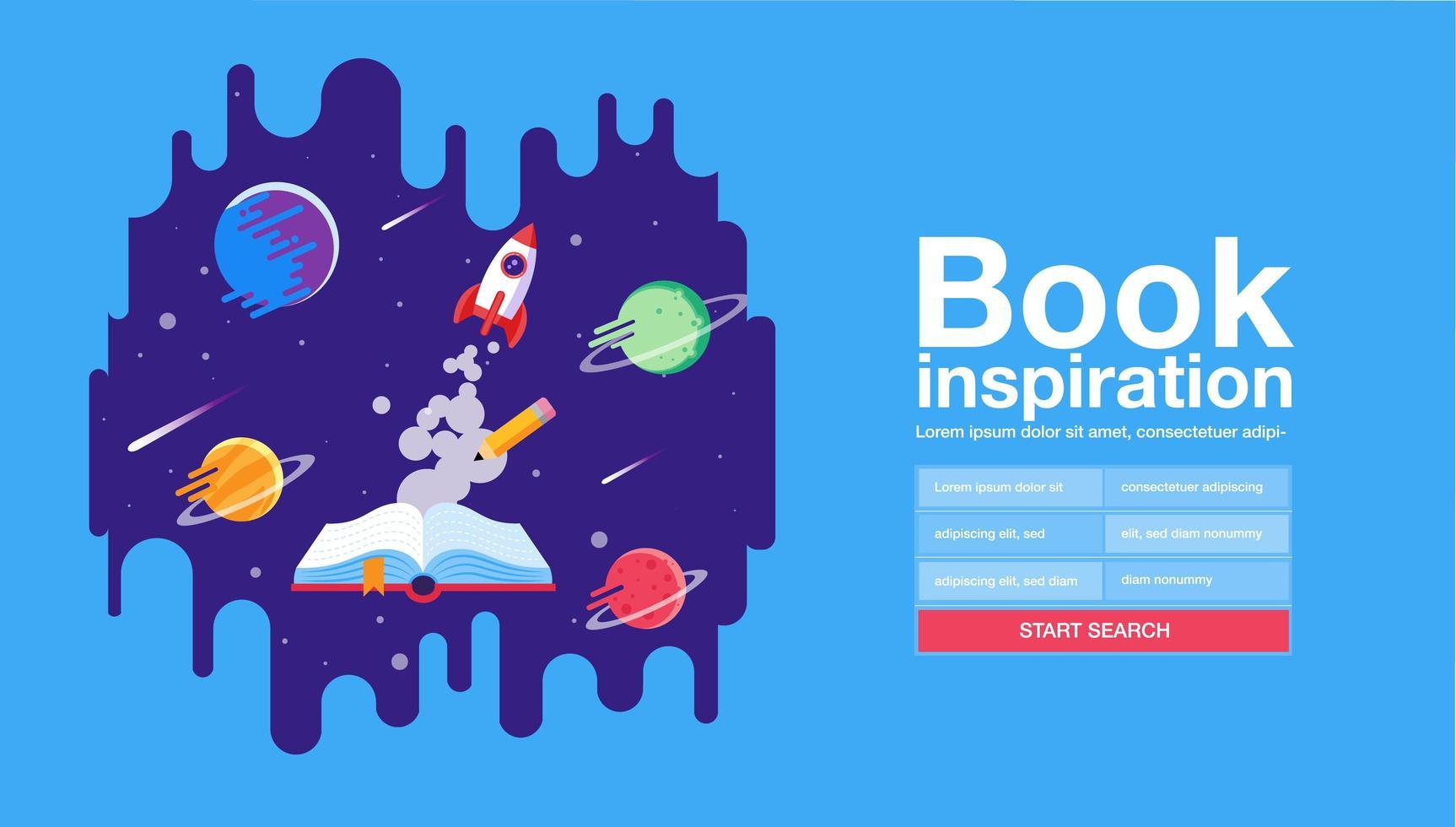 lendo o design do site de inspiração vetor